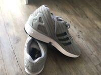 Grey Adidas ZX Flux size 7