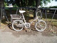 Vintage Raleigh FOLDING Bicycle For Sale. Fully Serviced & Ready To Ride. Guaranteed. 3 Speed.