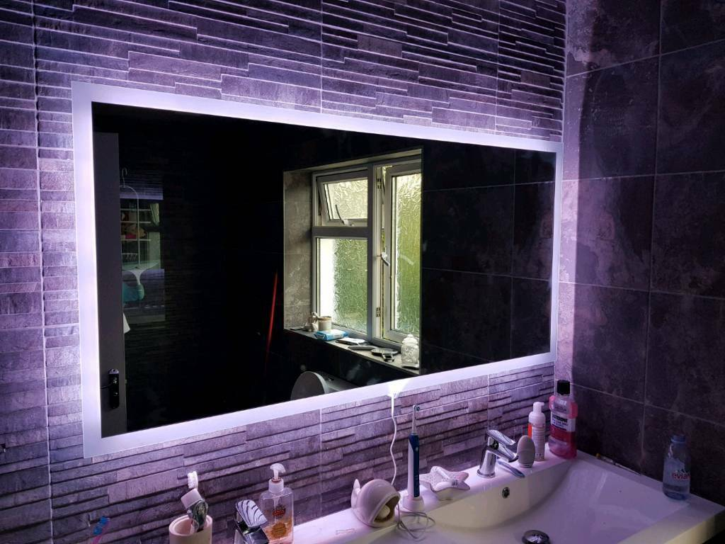 Bathroom Mirrors Guildford bathroom mirror with lit edge, shaver socket and demister | in