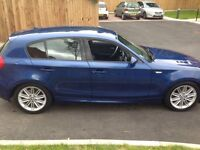 56 bmw 120i m-sports 5-door leathers park sensors met blue mot drives perfect first £2495 takes it