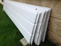 Lengths x 300mm UPVC Plastic Hollow Soffit Board White Hollow Cladding