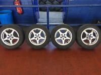 """Saab Vauxhall wheels 5 stud 15"""" 195/60/15 4 new tyres"""