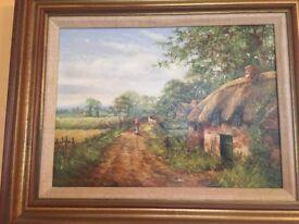 Pair of Original Oil Paintings by artist C.D Howells