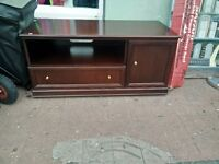 Red Wood TV Stand