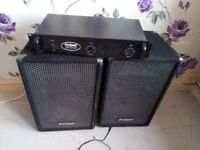 PRO SOUND SPEAKERS AND PRO SOUND 400 AMP PERFECT CONDITION NO DAMAGE
