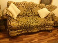 Large 2 seater sofa and 2 armchairs in mint condition!!!!!!