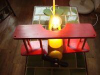 Wooden Bi Plane Lamp 40w Max Bulb.