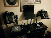 Pioneer Cdj 400's With Stands