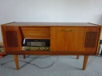 Vintage Teak Alba Stereo Radiogram. Lovely Working Condition, BSR Autochanger