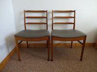 2 x Vintage Mid Century Teak Dining Chairs