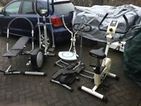 Rowing machine exercise bike