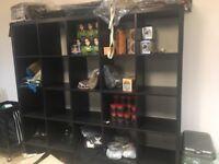 Shop shelves and hair salon equipment