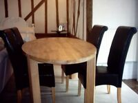 Table Oak New and 4 chairs
