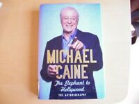 michael caine book hardback autobiography