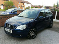 "2006 VOLKSWAGEN POLO 1.2 PETROL 5 DOOR,17""ALLOW WHEELS,VERY LOW MILEAGE, GOOD CONDITION"