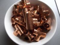 New copper plumbing fittings - 70 end feed 15mm equal tees - much cheaper than Toolstation & Wickes