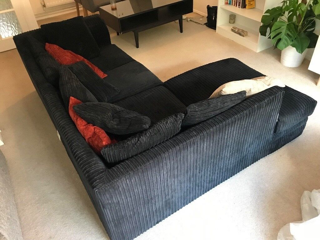 Magnificent Black Modern Fabric Corner Sofa Great Condition In Purley London Gumtree Pdpeps Interior Chair Design Pdpepsorg