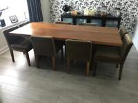 8 seater American Walnut dining table and chairs