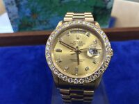 Rolex Day Date 18ct with diamond dial and bezel Recently serviced