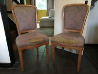 Pair Of Bedroom Chairs Project - French Chair - Upholstery Project