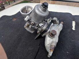 Mini HIF44 SU carb on MG Metro water heated manifold