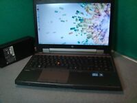 HP ELITEBOOK 8560W LAPTOP,INTEL CORE i7-2620M 2.7ghz,500GB HDD,8GB RAM,WIN 10,GOOD CONDITION