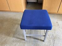 QUALITY BLUE & SILVER OFFICE / SHOP STOOL