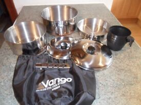 Vango 4 Person Stainless Steel Camping Cook Kit