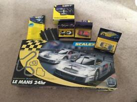 Le Mans 24h Mercedes scalextric with 3 extra cars