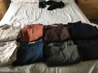 Men's trousers x 8 pairs