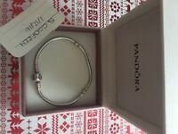 Pandora bracelet with box and bag