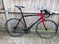 carrera Vanquish Mens Road Bike Carbon Fork Tiagra Sora
