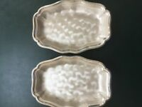 WMF Silver Plated 'Footed' Bowls, Pair