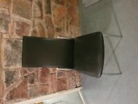 Black leather look dinning chairs x4