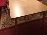 Ikea Table extendable, legs can be removed for transportation.