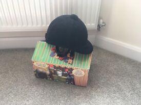 Charles & Owen black velvet riding hat size 54cm (6&3/4 inch). Excellent condition - no falls