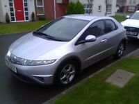 2007 HONDA CIVIC 1.8 I-VTEC SE, ONLY 74K, GOOD SERVICE HISTORY, 5 DOOR! (Not Vauxhall or Volkswagen)