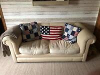 Cream fabric bed settee/sofa