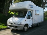 Hymer Camp C524, 2004, 6 berth with twin bunk beds at rear