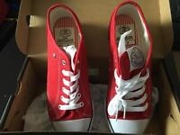 Red trainers size 6 NEW