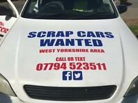 Scrap cars wanted West Yorkshire £100 plus 07794523511