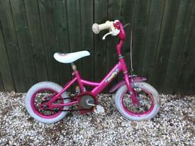 Girls bike, dark pink, age 3-5