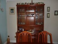 DINING TABLE, 6 CHAIRS & SIDEBOARD (PARKER KNOLL)
