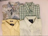 Various shirts and t-shirts for sale mostly Medium Size