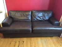 2 x 2 seater M&S leather sofas