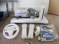 Nintendo Wii Bundle including Wii Fit + Motion plus attachment