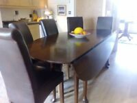 """Solid Oak Irish Wake Table 60"""" x 90"""", eight legs, excellent condition, owned for 50 years"""