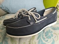 Ladies Timberland boat shoes size 6 navy blue
