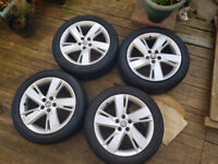 """ASTRA SRI 17"""" ALLOYS WITH TYRES 2013"""