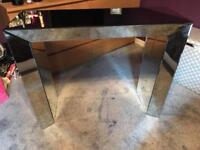 Glass dressing table